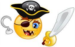 Piraat emoticon stock illustratie