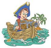 Piraat en schat Stock Afbeelding