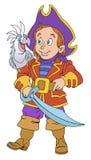 Piraat met machete Royalty-vrije Stock Fotografie