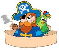 Piraat met perkament Stock Foto's
