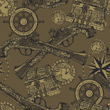 Piraat naadloos patroon Royalty-vrije Stock Afbeelding