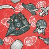Piraat naadloze textuur Royalty-vrije Stock Fotografie
