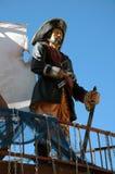 Piraat op schip. Stock Fotografie