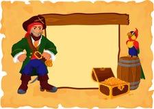 Piraatachtergrond Royalty-vrije Stock Afbeeldingen