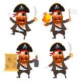 Piraatkarakter Stock Foto
