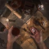 Piraatlijst stock foto's