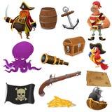 Piraatpictogrammen Stock Afbeeldingen