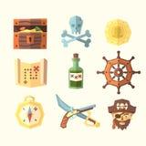 Piraatpictogrammen Stock Foto
