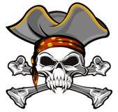 Piraatschedel Stock Foto's