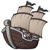 Piraatschip Stock Afbeeldingen