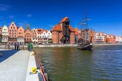 Piraatschip bij de Motlawa-rivier in Gdansk Royalty-vrije Stock Afbeelding