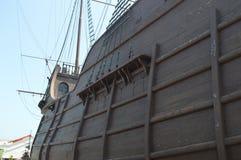 Piraatschip op vertoning Stock Afbeeldingen