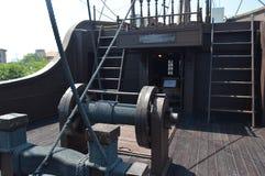 Piraatschip op vertoning Stock Foto