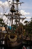 Piraatschip in Orlando, Florida stock afbeelding