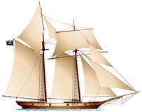 Piraatschoener Royalty-vrije Stock Afbeeldingen