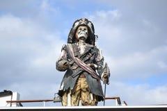 Piraatstandbeeld in Stockholm. Stock Foto