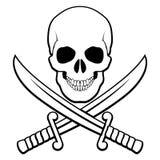 Piraatsymbool Stock Foto