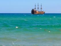 Piractwo statek Obraz Royalty Free