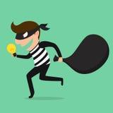 Piractwo, złodziej kraść pomysł Zdjęcia Stock