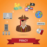 Piracy Concept with Pirate Stock Image