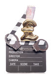 Piracy in the film industry costing money. Cutout Royalty Free Stock Photography