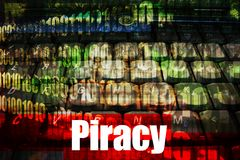 Piracy Hot Online Web Security Topic. Piracy, a popular web topic for the internet Royalty Free Stock Photography