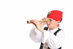 Piracy - pirate searching for loot Stock Photography