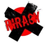 Piracy rubber stamp Stock Photos