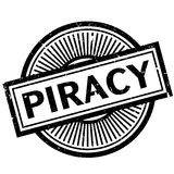 Piracy rubber stamp Stock Photo