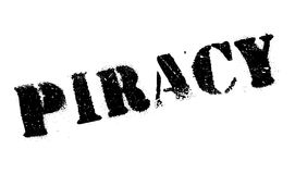 Piracy rubber stamp Stock Photography