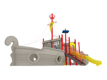 Piracy ship playground Stock Photography