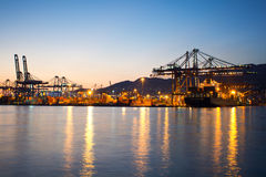 Piraeus Container terminal Stock Photo
