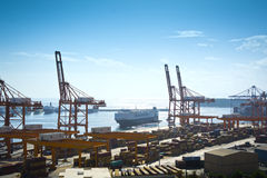 Piraeus Container terminal Stock Images