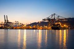 Piraeus Containerterminal Stock Foto