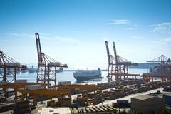 Piraeus Containerterminal Stock Afbeeldingen