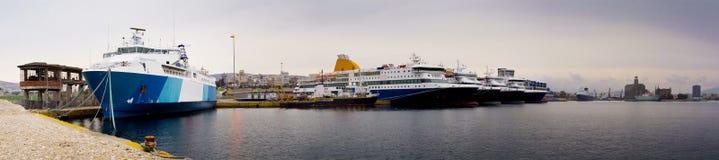 Piraeus hamn Royaltyfria Foton