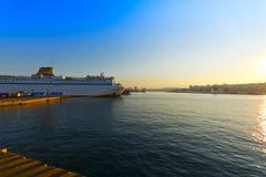 Piraeus haven Stock Afbeelding