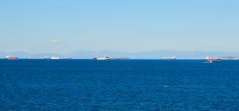 Piraeus haven in Saronic-Golf, Athene, Griekenland op 19 Juni, 2017 Stock Foto