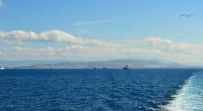 Piraeus haven in Saronic-Golf, Athene, Griekenland op 19 Juni, 2017 Stock Afbeeldingen