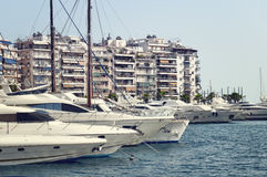 Piraeus Marina, Athens Royalty Free Stock Photos