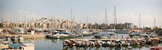 Piraeus Marina, Athens. A panoramic shot of the Piraeus Marina in Athens, Greece Stock Image