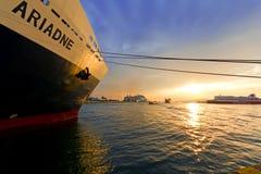 Piraeus port Obraz Stock