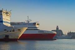 Piraeus port Fotografering för Bildbyråer