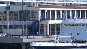 Piraeus Port Authority Building. View of the building of the Piraeus Port Authority stock video footage