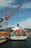 Piraeus port, commercial zone. Stock Images