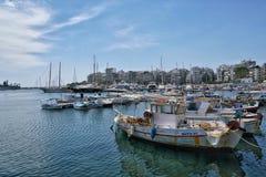 Piraeus port który jest duży jeden w Grecja obraz royalty free