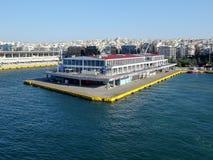 Piraeus port/terminal, Aten arkivbild
