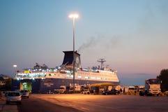 Piraeus Port vehicle ferry Stock Image