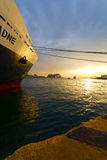Piraeus port Stock Image