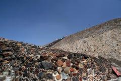Piramid Солнця/Teotihuacan, Мексики Стоковое фото RF